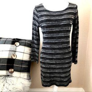 3/30 Jella Couture black sweater dress medium